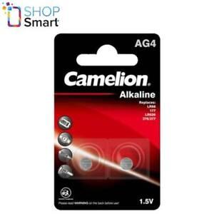 2 CAMELION AG4 LR626 ALKALINE BATTERIES LR66 377 G4 1.5V 2BL 18mAh EXP 2026 NEW