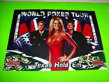 WORLD POKER TOUR By Stern 2007 ORIGINAL NOS Pinball Machine TRANSLITE Backglass