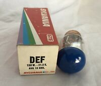 Sylvania DEF 150W 21.5V Projector Lamp Bulb.  Never Used. Old Stock