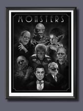 Universal Monsters Bride Frankenstein Wall Decor Poster [No Framed]