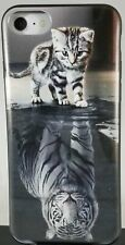 Black and White cat and tiger reflections PROTECTION Phone Case