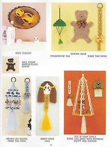 Macrame Merry Go Round Carousel Pattern Knot Just For Kids Craft Book PD1171