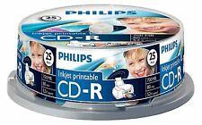 50 Philips CD-R RECORDABLE Inkjet Printable CD's 50 Blank CD Discs