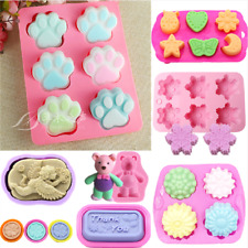 Soap Silicone Mold Fondant Chocolate Mould Ice Cube Cake Decor Baking Tray Tool