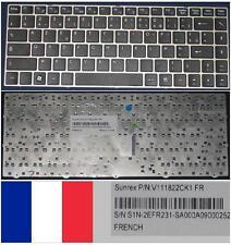 Tastiera Azerty Francese MSI X370 Serie V111822CK1 S1N-2EFR231 Nero Argento