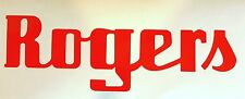Rogers Drums Vintage logo 9'' RED logo sticker decal for bass drum