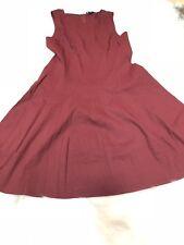 Theory Burnt Sienna Sleeveless Size 8 Women's Linen Blend A-Line Dress