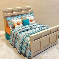 OOAK CONTEMPORARY BED Artisan Custom Dollhouse 1:12 Furniture by Miniature Lane
