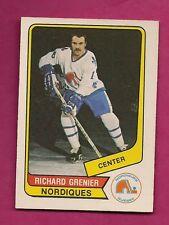 RARE 1976-77 OPC WHA # 59 NORDIQUES RICHARD GRENIER ROOKIE EX-MT (INV# A1362)