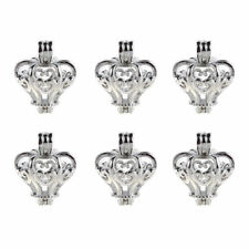 10pcs Pearl Beads Cage Silver 3D Crown Locket Pendant DIY Oil Diffuser 29*23MM