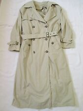 Womens Size 6 Regular London Fog Beige Trench Coat w/ Detachable Liner USA Made