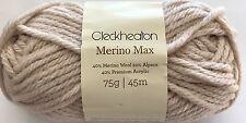 5 x 75g Balls - Cleckheaton Merino Max - Butter #03 - $35.00 A Bargain