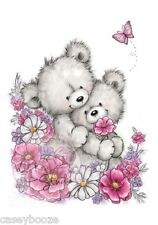 Wild Rose Studio - Clear Rubber Stamps - Bear Hugs - Flowers - 485 - New Out