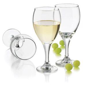 Libbey 4-Piece Catawba White Wine Glass Set, 12-Ounce, Clear NIB FREE SHIPPING