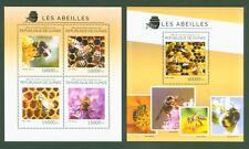 Guinea 2014 - Bienen Honigbiene Hummel Bees Abeilles - Nr. 10542-45 + Block 2404