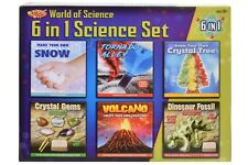 6 Science Chemistry Kit Set EXPERIMENTS ACTION SCIENCE Create your Own Crytal