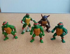 Lot 5 Figurines Tortue Ninja  TMNT Teenage Mutant Ninja Turtles Playmates