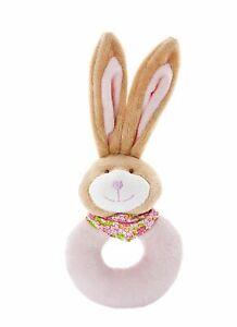 Mousehouse Gifts - Sonajero para bebé - Con conejito - Felpa - Rosa