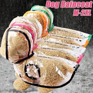 Dog Puppy Pet Waterproof Clothes Hooded Raincoat Jacket Rainwear Hood Reflective