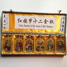 6 Asian  12 Beauties of Dream Red Mansion Reverse  Inside Painting Snuff Bottles