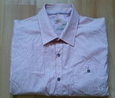 Mens River Island Pink Striped Button Shirt Size L