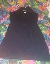 Ladies Black Jersey Dress Size 22 Bnwt