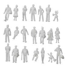 100Pcs Model Train People Figures Scale HO TT (1 to 100) -Light Grey G8A9 H4Z2