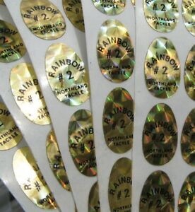 #2 Holographic Northland Tackle Replacement Gold Decals-Lot of 168 C1