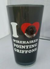 I love wire haired pointing Griffons dog puppy glass tumbler