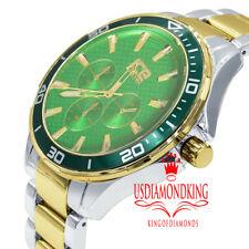 Joe Rodeo Stainless Steel Back Metal Watch Mens 45mm Green Emerald 2 Tone Jojino