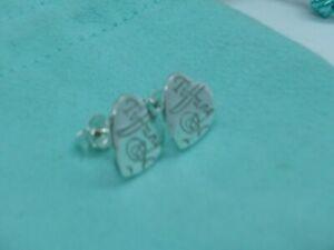 Tiffany & Co. Orecchini cuore Notes in Argento 925 St.Silver Heart earrings