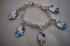 Hello Kitty Charm Bracelet Kitsch Silver Plated
