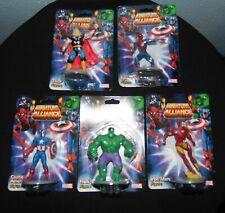 Marvel Monogram Miniature Alliance Set of 5 Figurines Hulk Iron Man Spidey Thor+