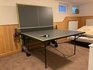 Kettler TT-Platte AXOS Indoor 3, Grau/Gelb, 07136-900, Tischtennisplatte
