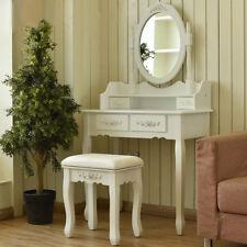 Modern Table Set With Mirror Stool Vintage Makeup Desk Girl Bedroom Dresser