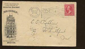 1899 Boston Massachusetts The Herald News la Publicité Housse