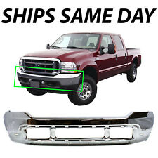NEW - Steel Chrome Front Bumper Shell Fascia for 1999-2004 F250 F350 Super Duty
