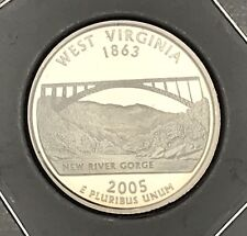 """2005-D West Virginia State Quarter Unopened /""""Beautiful/"""" Orange US Mint Coin Roll"""