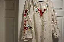 Embroidered womens dress  size M-L