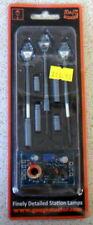Gaugemaster GM815 Taper Post Oil Lamp Grey Undercoat (x3) OO Gauge NEW
