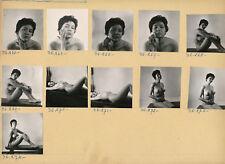 Femmes c. 1960 - 11 Photos Portraits Nus Studio - Pl 246