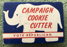 New listing Vintage Gop Elephant Republican Cookie Cutter