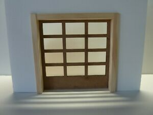 1 Set of 6 Garage Doors 1:24 Scale 12 Window Unfinished with Frames.