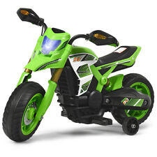 6V Electric Kids Ride-On Motorcycle Battery Powered Bike w/Training Wheels Green