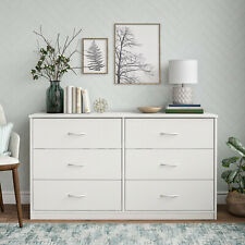 6-Drawer Dresser Organizer Bedroom Clothes Furniture Chest White Finish
