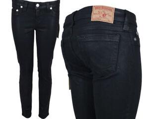True Religion HALLE higher-rise skinny black coated legging WJDN95W14