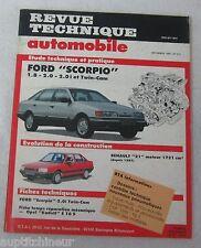 Revue technique automobile RTA 510 1989 Ford scorpio 1.8 2.0 i & twin-cam