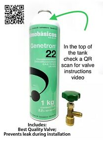 Refrigerant R22 35oz = 2.18Lbs + Can Tap Valve SAME-DAY HANDLING & FAST SHIPPING