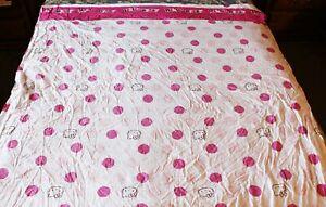 Hello Kitty Sheet Set Sanrio White Pink polka dots Twin 2 Pc Poly/Cotton