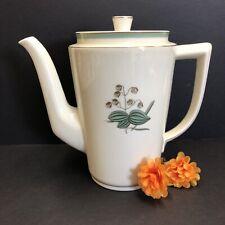 "Vintage 1920's Royal Copenhagen 9533  Quaking Glass Coffee Pot 7 3/4"" H Denmark"